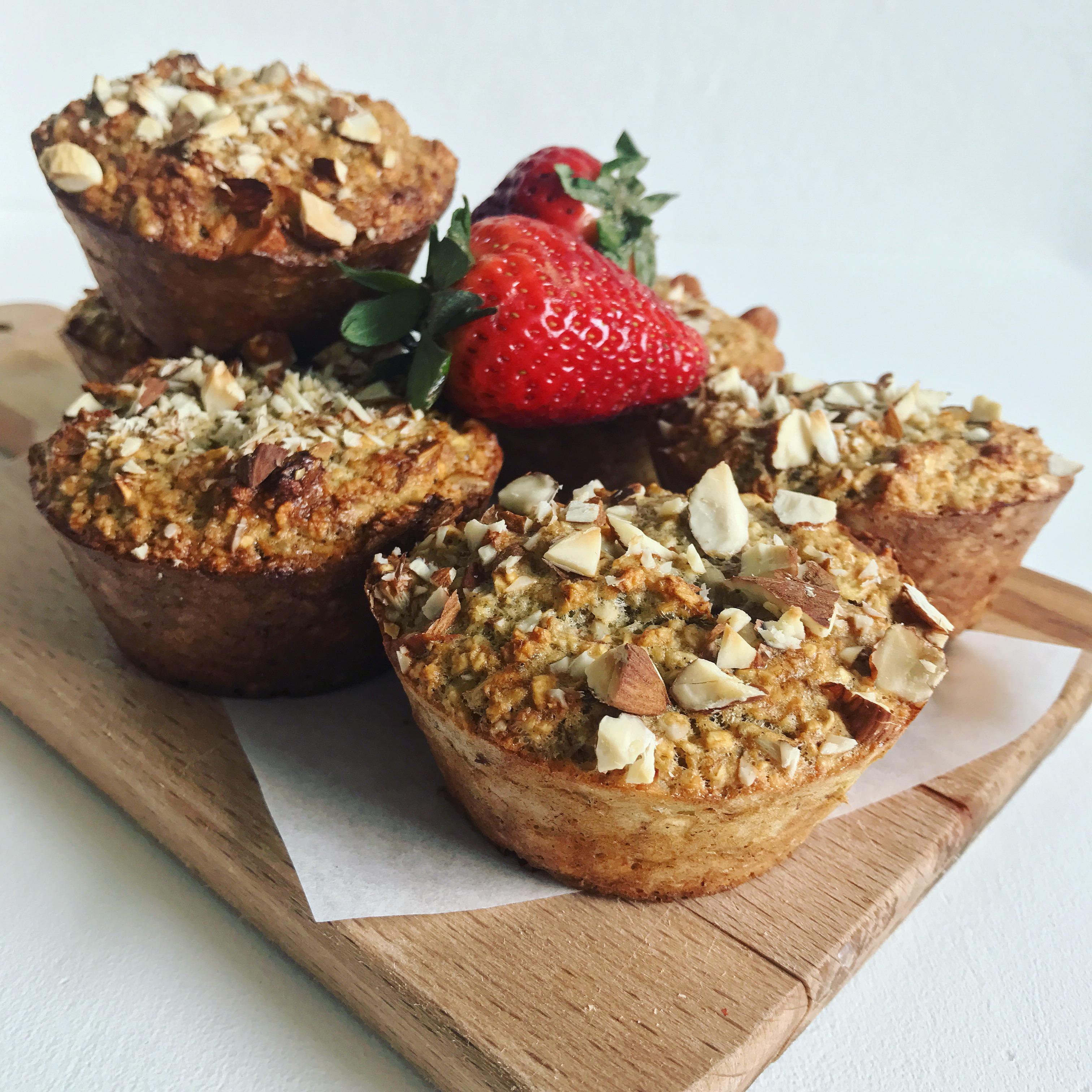 Havregrøds muffins