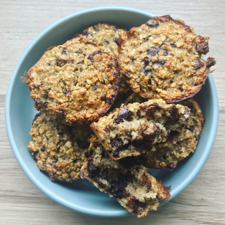 Havregrøds muffins med chokolade