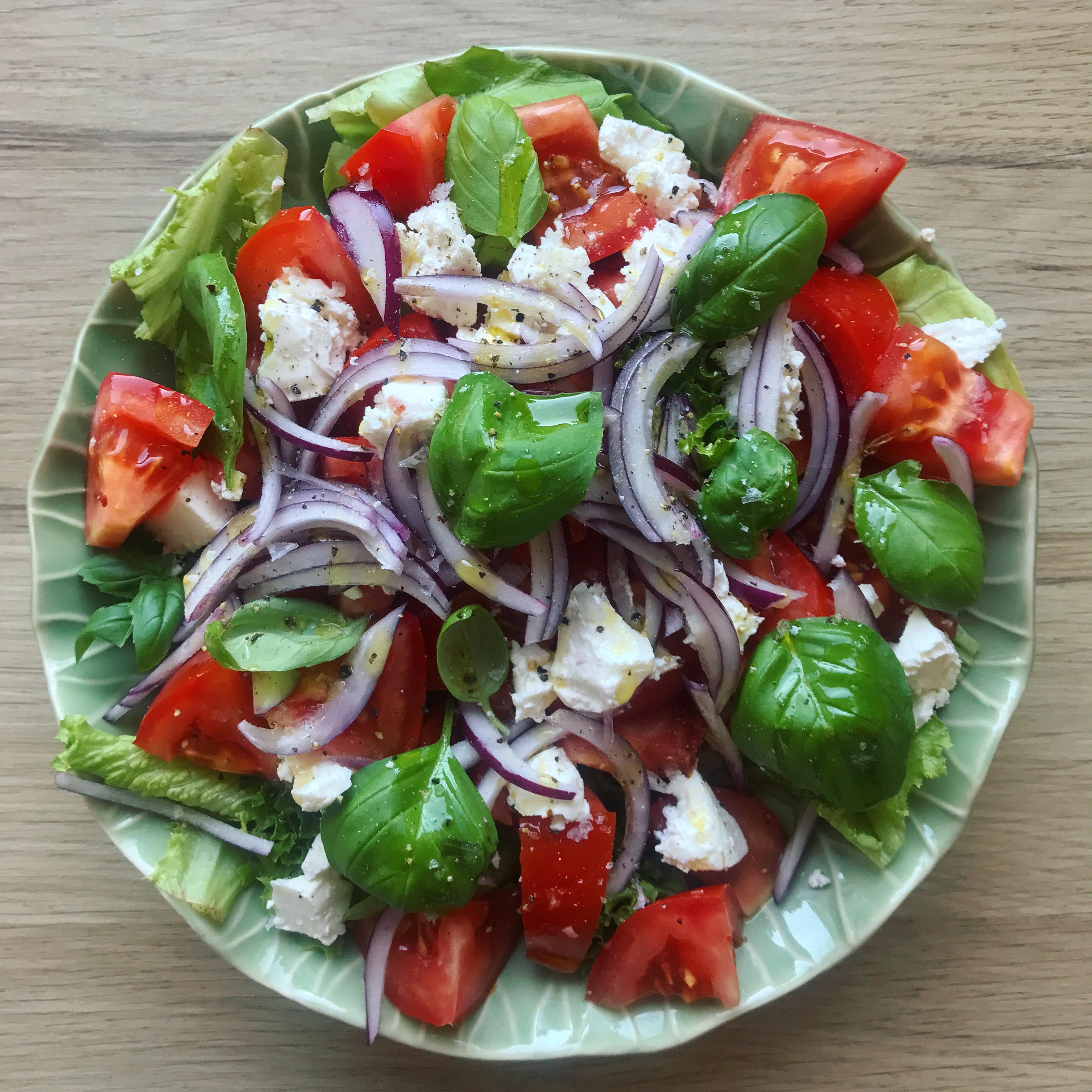 Tomat Salat Lækker Og Nem Tilbehør Til Aftensmaden