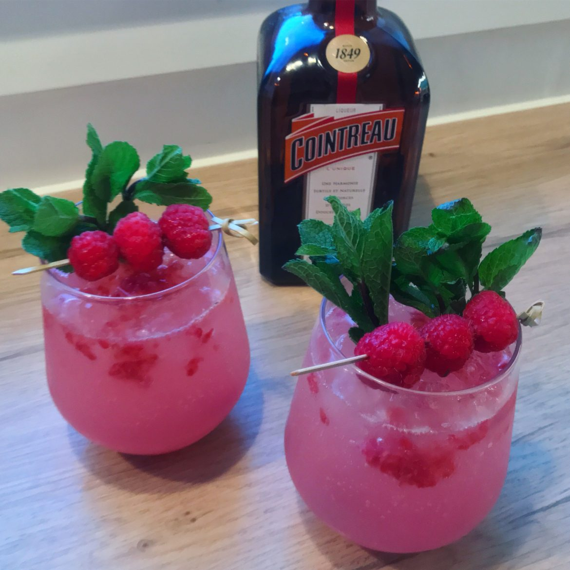 Hindbær cocktail