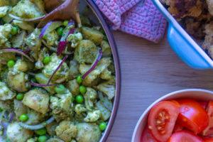 Blomkåls kartoffelsalat med pesto