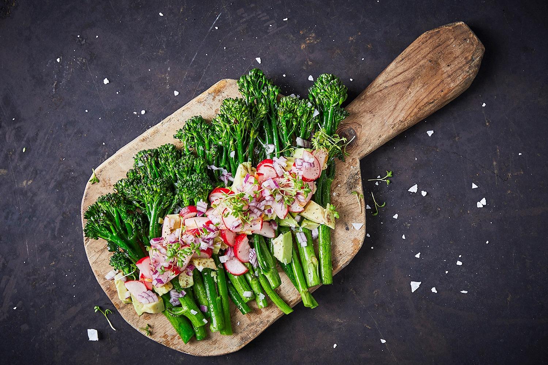 lynstegt aspargesbroccoli