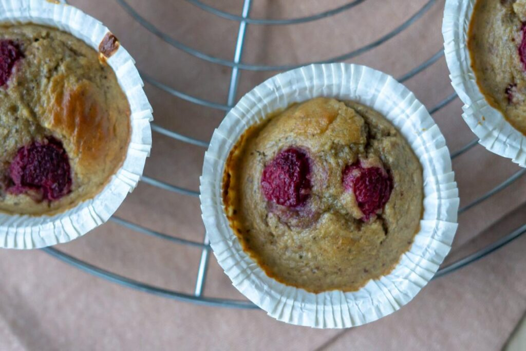 Hindbær chia muffins