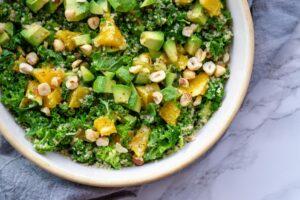 Grønkåls couscous salat