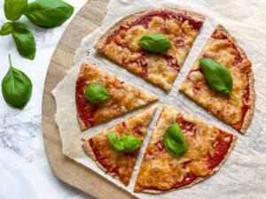 Tortilla pizza margerita
