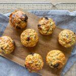 Mini havregryns muffins med chokolade