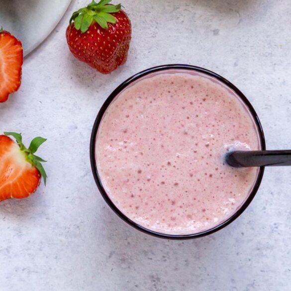 Jordbær smoothie med banan