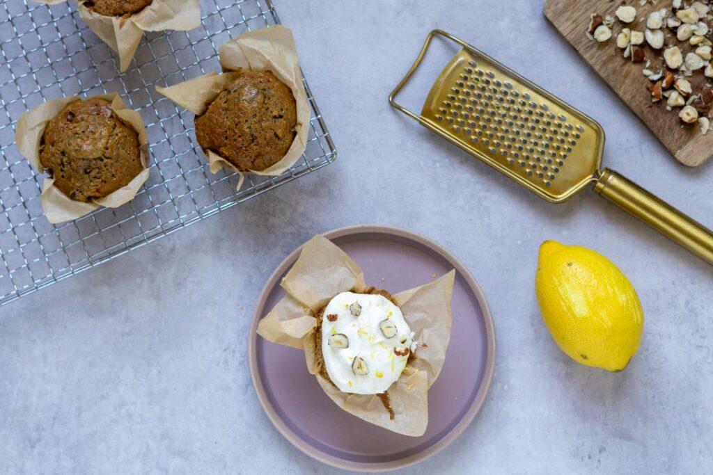 Squash muffins med flødeostcreme
