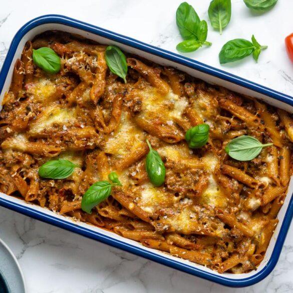 Bagt pasta bolognese