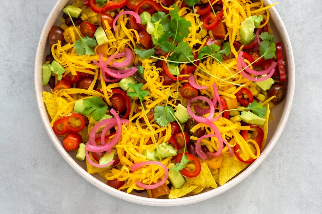 nachos salat