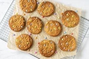 Cookies med smarties